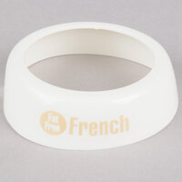 Tablecraft CB23 Imprinted White Plastic Lite 1000 Island Salad Dressing Dispenser Collar with Beige Lettering
