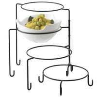 Tablecraft BKP4 4 Tier Metal Display Stand Black