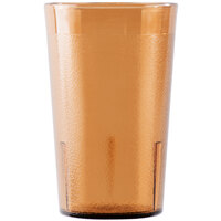 Cambro 950P153 Colorware 9.8 oz. Amber Plastic Tumbler - 72 / Case