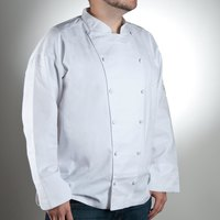 Chef Revival J015-L Chef-Tex Size 46 (L) White Customizable Cuisinier Chef Jacket