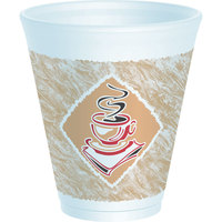 Dart Solo 12X16G 12 oz. Squat Espresso Customizable Foam Cup 1000/Case
