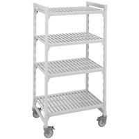 Cambro Camshelving Premium CPMU213675V4480 Mobile Shelving Unit with Premium Locking Casters 21 inch x 36 inch x 75 inch - 4 Shelf