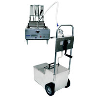 MirOil HOS0640 70 lb. Fryer Oil Hand Operated Filter Machine and Discard Trolley - Countertop