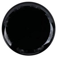 "WNA Comet DWP9180BK 9"" Black Plastic Designerware Plate - 18/Pack"