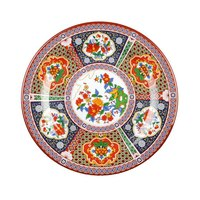 Peacock 6 inch Round Melamine Plate - 12 / Pack