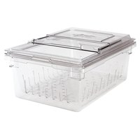 Cambro 18268CLRKIT135 Camwear 18 inch x 26 inch x 9 inch Clear Colander and Food Storage Box Kit