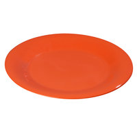 Carlisle 3302052 Sierrus 5 1/2 inch Sunset Orange Wide Rim Melamine Bread and Butter Plate - 48/Case