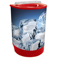 Red Iceberg 500 60 Qt. Insulated Portable Beverage Cooler / Merchandiser with Lid, Drain, and Semicircular Design