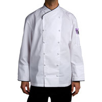 Chef Revival J008-M Chef-Tex Size 42 (M) Customizable Poly-Cotton Corporate Chef Jacket with Black Piping