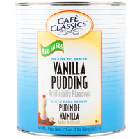Cafe Classics Trans Fat Free Vanilla Pudding #10 Can - 6/Case