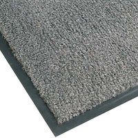 Teknor Apex NoTrax T37 Atlantic Olefin 434-329 4' x 8' Gunmetal Carpet Entrance Floor Mat - 3/8 inch Thick