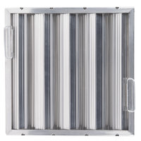 All Points 26-2262 16 inch x 16 inch x 2 inch Aluminum Hood Filter - Ridged Baffles