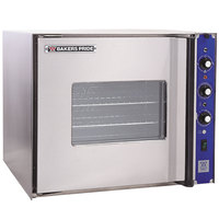 Bakers Pride COC-E1 Cyclone Series Single Deck Half Size Electric Convection Oven, Left Hand Hinge - 220-240V, 3 Phase, 9500W