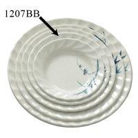Blue Bamboo Melamine Curved Rim Plate – 7 inch 12 / Pack
