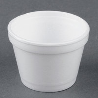 Dart Solo 4J6 4 oz. White Foam Food Bowl - 50/Pack