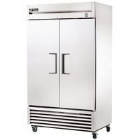 True T-43 47 inch Two Section Solid Door Reach-In Refrigerator - 38.5 cu. ft.