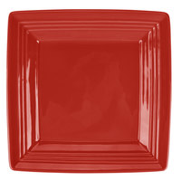 Tuxton CQH-0845 Concentrix 8 1/2 inch Cayenne Square China Plate - 12/Case