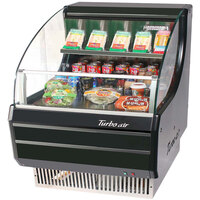 Turbo Air TOM-30LB Black 28 inch Low Profile Horizontal Air Curtain Display Case - 6.1 Cu. Ft.
