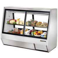True TDBD-72-4 72 inch Four Door Double Duty Refrigerated Deli Case - 35 Cu. Ft.