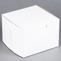 Southern Champion 902 5 1/2 inch x 5 1/2 inch x 4 inch White Cake / Bakery Box - 10/Pack