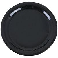 Carlisle 4385203 Black Dayton 9 inch Melamine Dinner Plate - 48 / Case