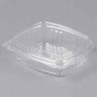 Genpak AD08F 8 oz. Clear Hinged Deli Container with High Dome Lid - 200/Case