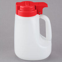 Tablecraft MW32R 32 oz. Option Dispenser with Red Top - 6/Pack