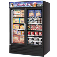 Turbo Air TGF-49FB Black 54 inch Two Glass Door Merchandising Freezer - 49 Cu. Ft.