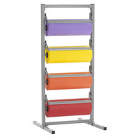 Bulman T369R-15 15 inch Four Deck Tower Paper Rack with Straight Edge Blade
