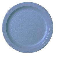 Cambro 9CWNR401 Slate Blue Camwear 9 inch Narrow Rim Plate - Polycarbonate 48/Case