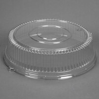 Sabert 5516 16 inch Clear Dome Lid for Round Catering Tray - 3/Pack