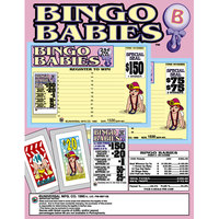 Bingo Babies 1 Window Pull Tab Tickets - 1530 Tickets Per Deal - Total Payout: $250
