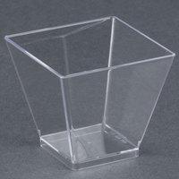 WNA Comet APTSQSHOT2 Petites 1.75 oz. Square Plastic Tasting Glass 40 / Pack