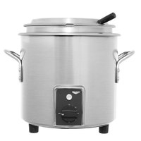 Vollrath 7217710 Natural Metal Finish Retro 7 Qt. Stock Pot Kettle Rethermalizer - 120V, 1450W