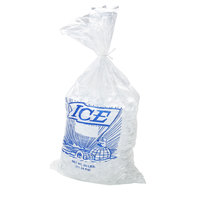 25 lb. Plastic Ice Bag with Blue ICE logo 500 / Bundle - 500/Bundle