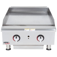 APW Wyott HMG-2424 24 inch Heavy Duty Countertop Griddle with Manual Controls - 66,000 BTU