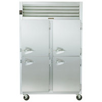 Traulsen G24307P 2 Section Pass-Through Half Door Hot Food Holding Cabinet with Right Hinged Doors