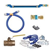 36 inch Dormont 1650BPQSR SwivelMAX Gas Connector Kit with Coiled Restraining Device - 1/2 inch Diameter