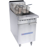 Bakers Pride BPF-3540 Restaurant Series Natural Gas 35-40 lb. Floor Fryer - 76,000 BTU