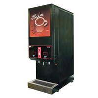 Cecilware GB2 Super SKI-BL-LD-HC Dual 14 lb. Hopper Powdered Hot Chocolate Dispenser with Illuminated Door - 120V