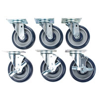 Cooking Performance Group 5 inch Plate Casters - 6 / Set