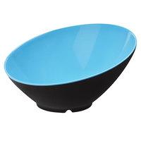 GET B-790-BL/BK Brasilia 1.9 Qt. Blue and Black Melamine Bowl - 6/Case