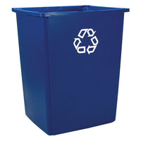 Rubbermaid 256B-73 Glutton Recycling Container 56 Gallons (FG256B73 BLUE)