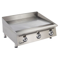 Star 836MA Ultra Max 36 inch Countertop Gas Griddle with Manual Controls - 90,000 BTU