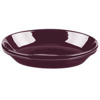 Tuxton BRK-0803 DuraTux 8 oz. Burgundy Oval Nesting Baker - 12/Case