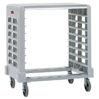 Rubbermaid 331600 Off White Max System Side Load Prep Cart with Cutting Board - 8 Slots (FG331600OWHT)