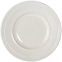 Embossed Rim American White (Ivory / Eggshell) 6 1/2 inch China Plate - 36 / Case