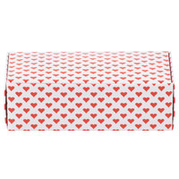 5 1/2 inch x 2 3/4 inch x 1 3/4 inch 1-Piece 1/2 lb. Valentine's Day Heart Candy Box - 250/Case