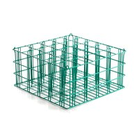 25 Compartment Catering Glassware Basket - 3 1/2 inch x 3 1/2 inch x 9 inch Compartments
