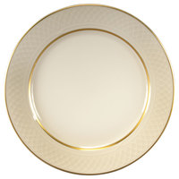 Homer Laughlin 1420-0334 Westminster Gothic Off White 6 1/4 inch China Plate - 36/Case